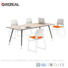 Wooden office furniture conference rectangular table modern design