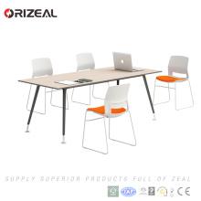 Деревянная конференц-офисная мебель прямоугольный стол современный дизайн
