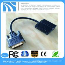 El oro de la alta calidad plateó el varón de 15cm DVI al cable femenino del adaptador del convertidor del VGA