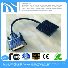 high quality gold plated 15cm DVI Male to VGA Female converter adapter cable