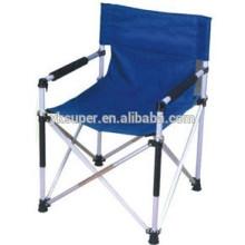 Cadeira portátil de alumínio dobrável para diretor