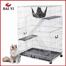 Fabrik-preiswertes Katzen-Haus-Produkt-großer faltbarer Draht-Haustier-Katzen-Käfig für Verkauf