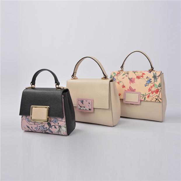 Custom Fashionable lady Leather Tote Bags Women Handbag