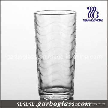 9oz Machine-Pressed Glass Tumbler with Wave Design (GB026709B)