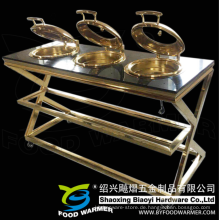 Goldene elektrische Erwärmung Mobile Chafing Dish Buffet Station