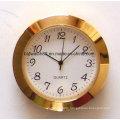 Custom Japan Quartz Clock Insert Gold Plated Mini Clocks 65mm