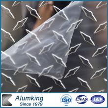 Hoja de aluminio a cuadros de diamante para instalaciones eléctricas