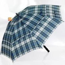 Check Polyester Double Layer Golf Umbrella (YS-G1008A)