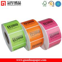 Type d'autocollant adhésif et étiquette d'emballage du papier