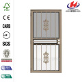 Rambling Rose Forest Green Recessed Mount All Season Security Door
