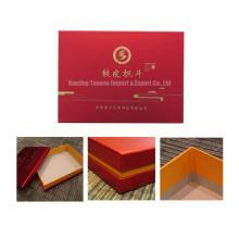 Caja de empaquetado de encargo del regalo de la cartulina del terciopelo para el alimento, la joyería, los cosméticos