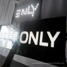 Letrero de caja de luz de metal personalizado al aire libre