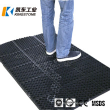 Good Price Anti Skid Heavy Duty Anti Slip Drainage Hole Rubber Mat with 3FT*5FT with Connector
