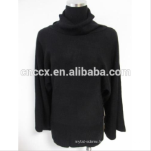 16JW02 chic woman turtle neck cashmere loose sweater jumper
