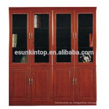 Estante ajustable del archivo / del libro de madera estantes calientes del estante del libro de la venta MDF + Acabamiento de papel (T8084)