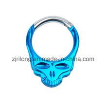 Aluminum Skull Shape Carabiners Spring Snap Clip Hook
