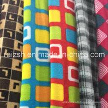 Tissu de polaire polaire imprimé pour la fabrication de vêtements chauds
