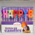 Neue entworfene verschiedene Buchstaben-geformte Kerze