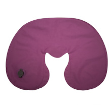 High Density Sustainable Stretch Non Woven U-shape Inflatable Waterproof TPU Fabric Inflatable Pillow For Neck