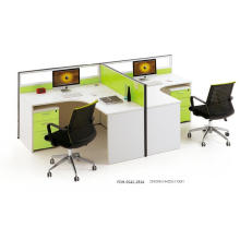 Green Single Side 2 Seater Panel Office Desk (FOH-SS42-2814)