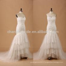 Sweetheart trompette Robe de mariée en dentelle en dentelle robe de mariée avec dentelle décapotable