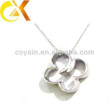 Expreso alibaba Colgante de joyería de acero inoxidable, colgante de flor de plata