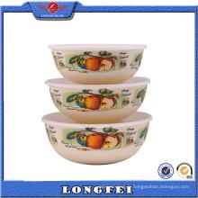 Produits les plus vendus 3 PCS Émaillage Cold Storage Bowl
