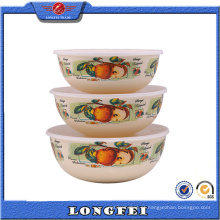 Produtos mais vendidos 3 PCS esmalte Cold Storage Bowl