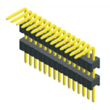 1.27mm Pin Header Single Row Double Angle en plastique