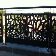 Laser Cut Metal Railing Screens
