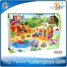 Hot Sales 72PCS Plastic Creative Animal Zoo Learning Building Blocks