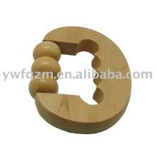 Massageador de joelho de madeira