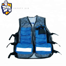 Manufactory produce ANSI and EN20471 Standard Fishing Vest, reflective vest with pockets, Color fabric can be customized