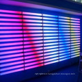 DMX coloured linear tube lights facade lighting