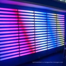 Управление DMX цветные линейные трубки лампы освещения фасада