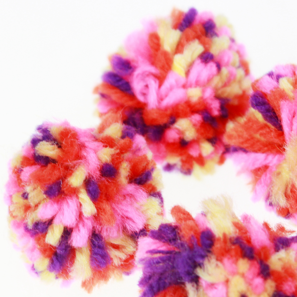 Multi-color Pom fro bags