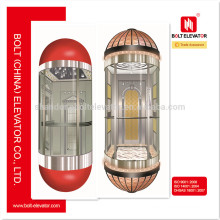 2015 China Hot selling Elevator Glass Round