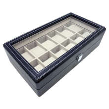 Faux Leather Watch Box/Case for 12 Watches (D03-149)