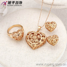 62843 Мода Специальный Камня В Форме Сердца Золото Комплект Ювелирных Изделий