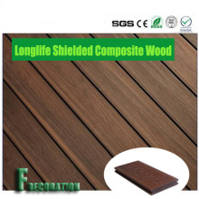 Preço de fábrica tampado WPC composto plástico madeira sólida Decking ao ar livre