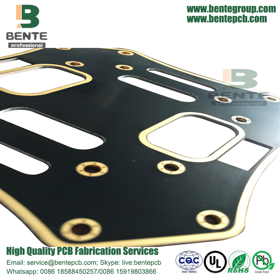 Black 2Layers PCB FR4 Low Cost PCB ENIG