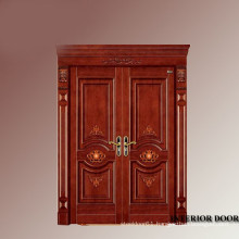Solid mahogany entry chinese exterior antique stee doors