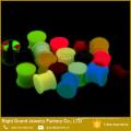 Silikon Ohr Flesh Tunnels Eyelets im Dunkeln leuchten Sattel Ohrstöpsel Messgeräte