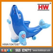 Забавная пластмассовая универсальная синяя игрушка для дельфинов