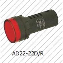 Luz indicadora roja de 22 mm / 16 mm, lámpara de señal roja, Greem, azul, blanca, amarilla