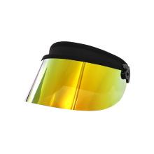 Fashion gold visor face cover sun visor cap