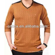 13STC5580 latest design mens v-neck pullover sweater