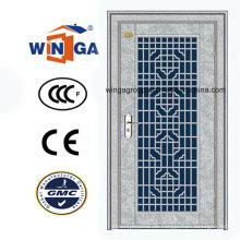 Hochwertige Eingangssicherheit Weiße Farbe Stahl Metall Tür (W-GH-28)
