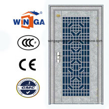 High Quality Entrance Security White Color Steel Metal Door (W-GH-28)
