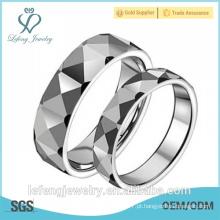 Anel de casamento de prata feito sob encomenda do carboneto de tungstênio da jóia da alta qualidade da qualidade